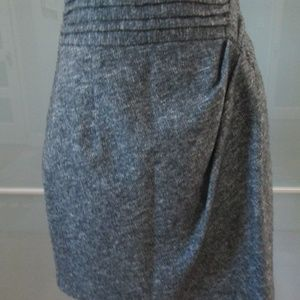 Wool Blend Straight Pencil Skirt